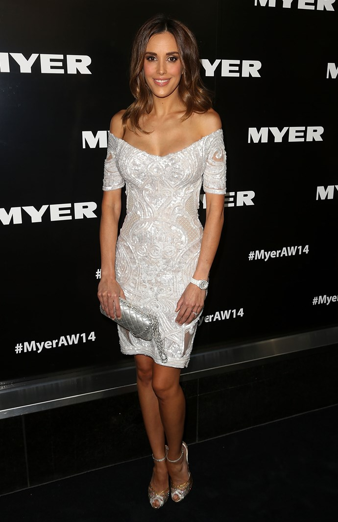 Rebecca Judd at the Myer AW14 fashion show in Melbourne