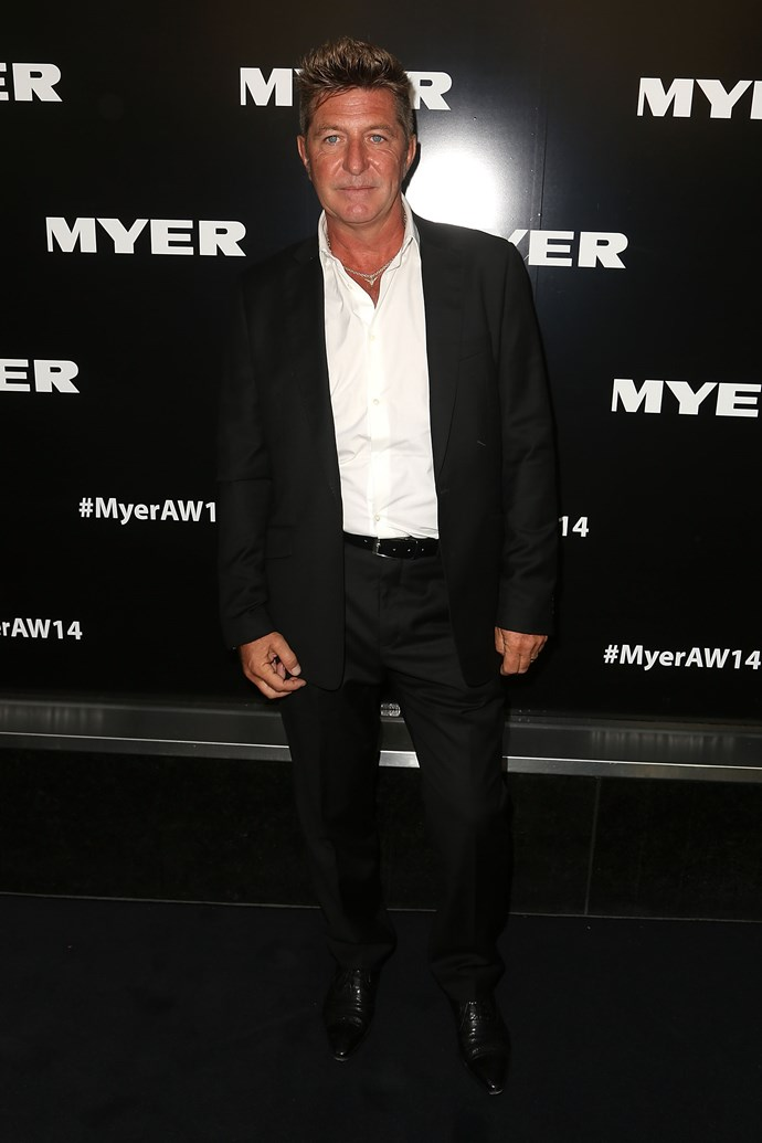 Australian designer Wayne Cooper at the Myer AW14 fashion show in Melbourne