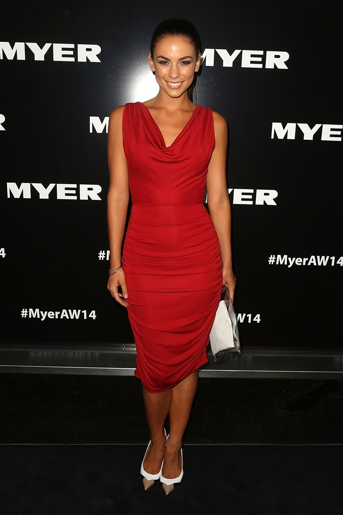 Maddy King at the Myer AW14 fashion show in Melbourne