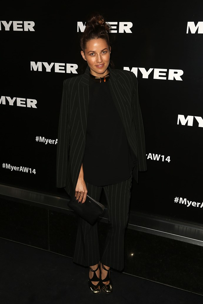 Kym Ellery at the Myer AW14 fashion show in Melbourne