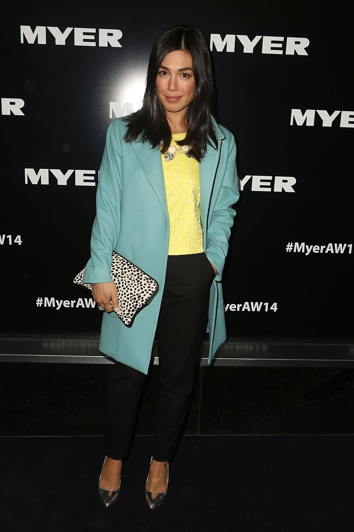 Melanie Vallejo at the Myer AW14 fashion show in Melbourne