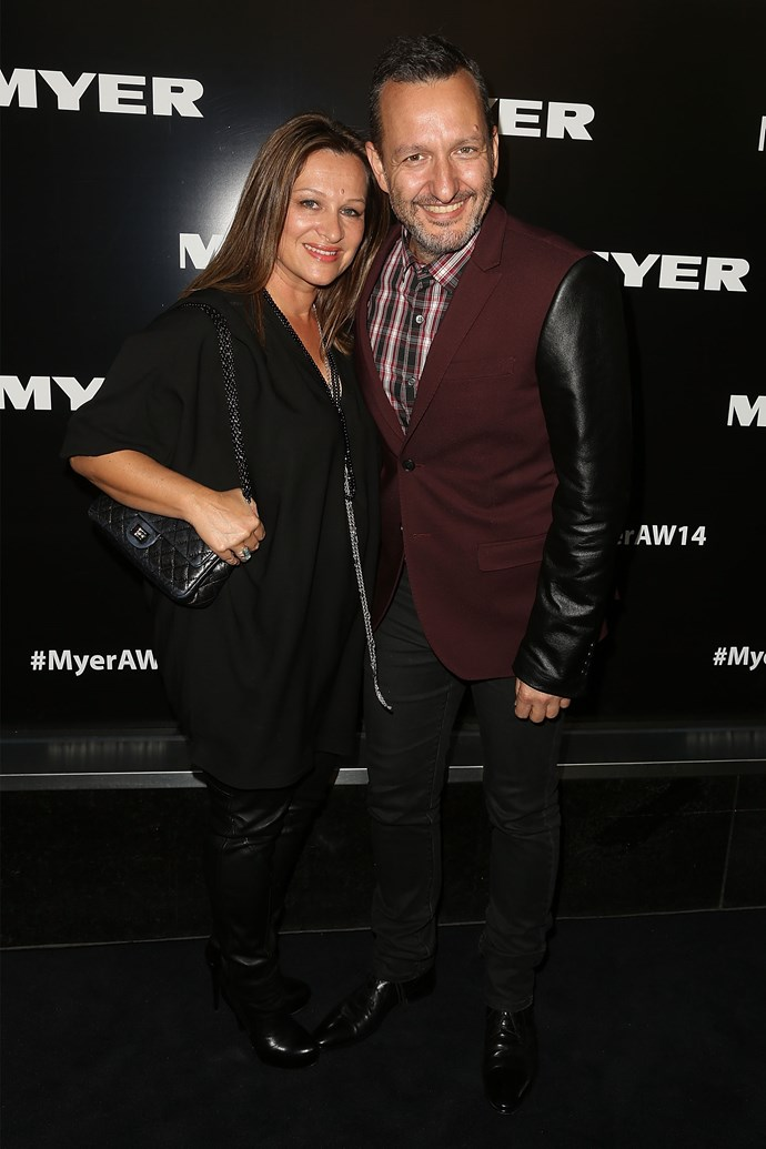 Mimi and Arthur Galan at the Myer AW14 fashion show in Melbourne