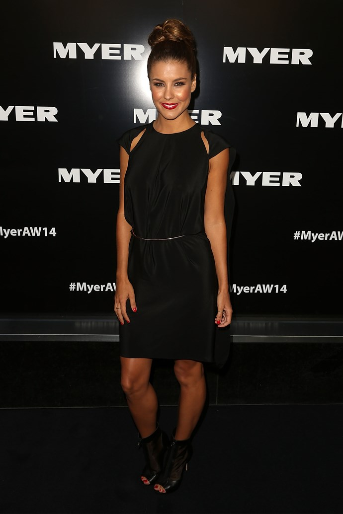 Lauren Phillips at the Myer AW14 fashion show in Melbourne
