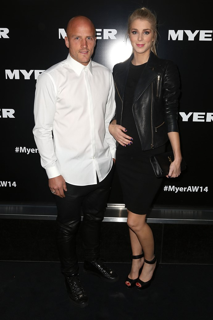 Jerri and Nathan Jones at the Myer AW14 fashion show in Melbourne