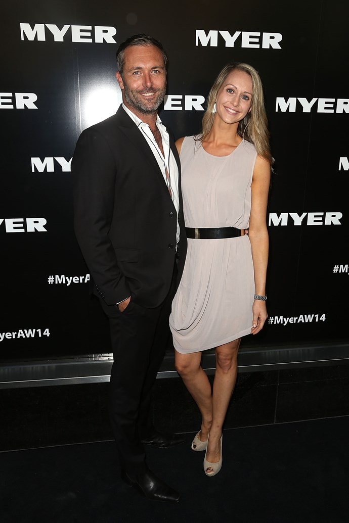 Glen and Michelle Moriarty at the Myer AW14 fashion show in Melbourne