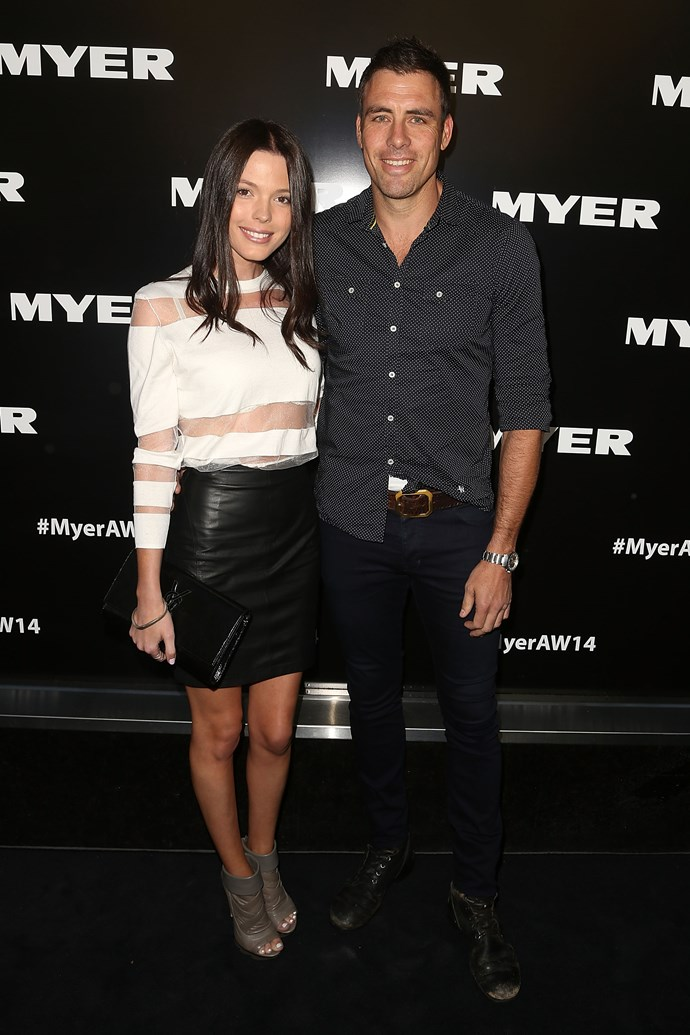 Matthew Richardson and Genevieve Holliday at the Myer AW14 fashion show in Melbourne