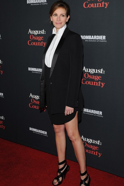 Doing androgynous-dressing right, Julia Roberts turned heads in Givenchy at the <em>August: Osage County</em> Los Angeles Premiere, during 2013.