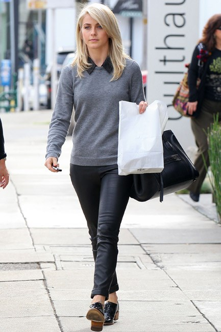 Julianne Hough had pep in her step and a preppy ensemble sorted when she took a stroll around Hollywood.