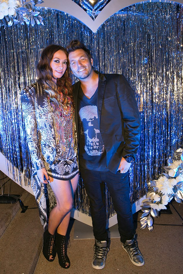 Camilla Franks and Johnny Sonic at the 2014 Silver Party