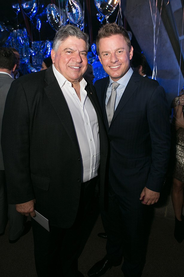 John Symonds and Ben Fordham at the 2014 Silver Party