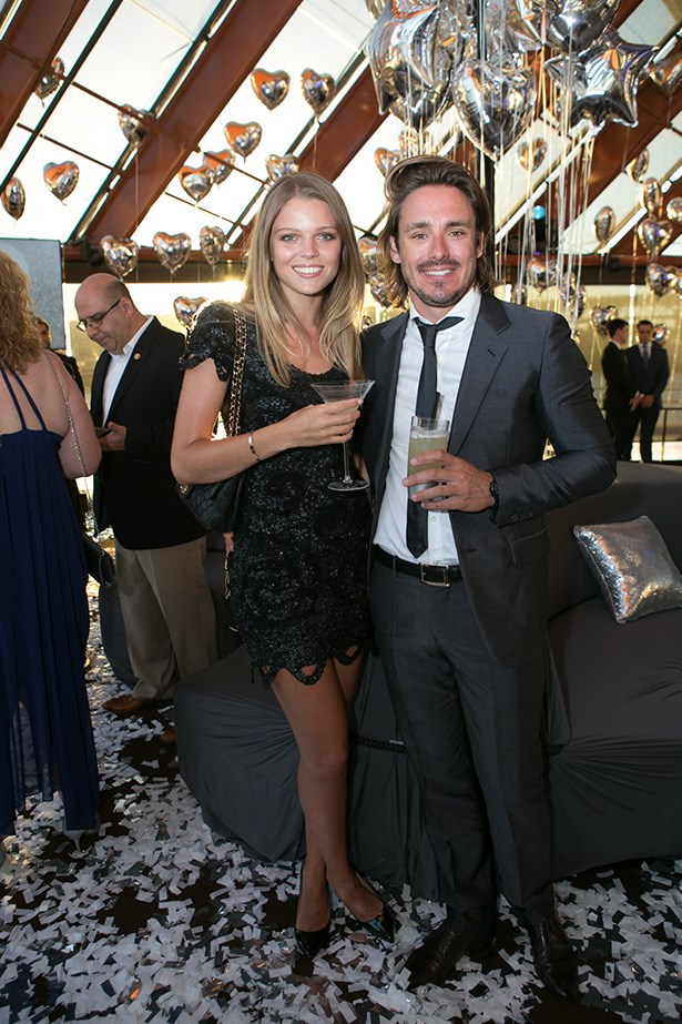Juliana Forge and Cameron MacDonald at the 2014 Silver Party