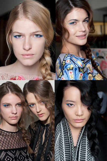 <strong>Side plait </strong><br> The classic side plait looked so modern at Temperley London's autumn/winter 2014 show thanks to a dishevelled part and loose waves that framed the face.