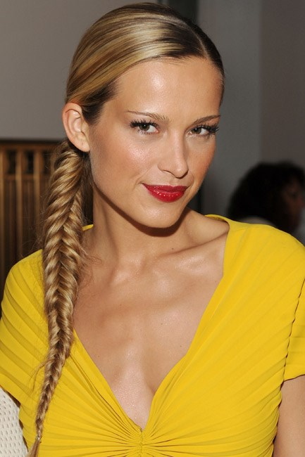 <strong>Fishtail plait </strong><br>Not satisfied with a regular old plait, Petra Nemocova flaunted the fishtail kind.