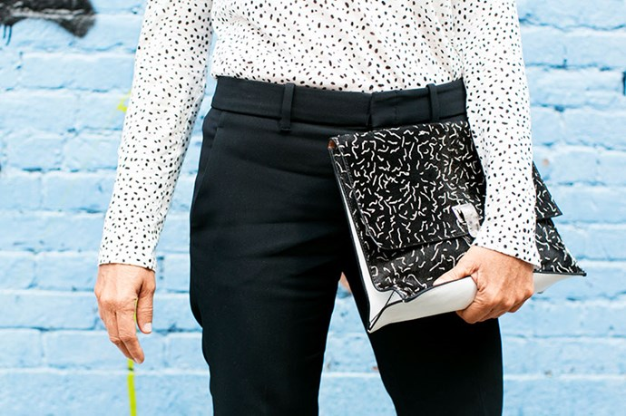 """You don't have to go big to go graphic. Micro prints tap into a modern take on the trend."""