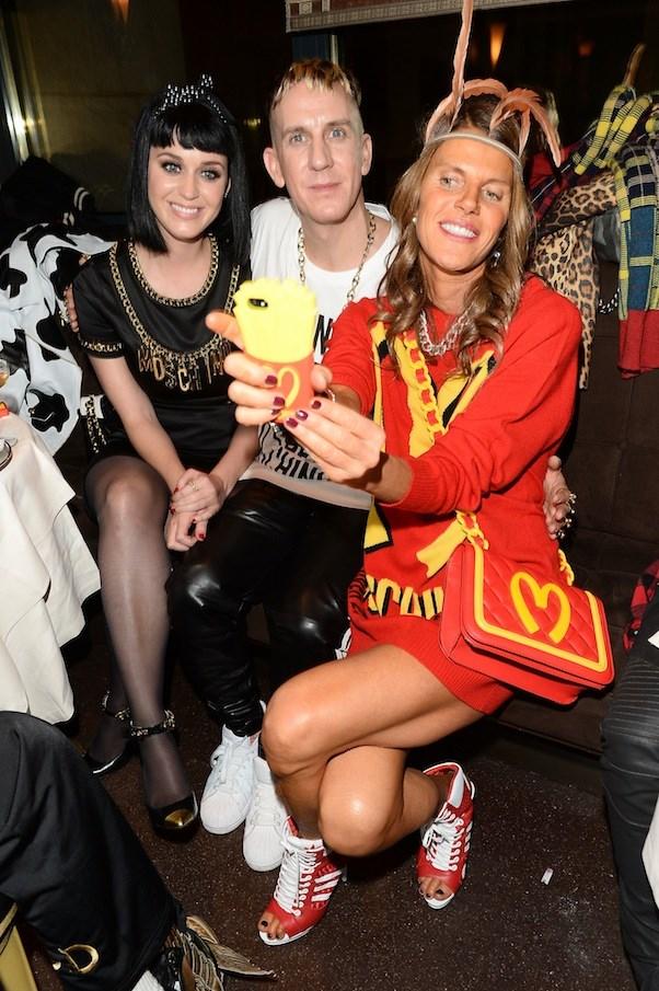 Katy Perry, Jeremy Scott and Anna Dello Russo