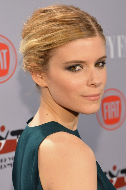 Celebrity muse: Natural red-head Kate Mara dipped into the blonde dye and it worked a treat.