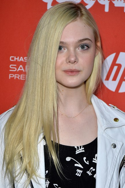 Celebrity muse: Natural blonde Elle Fanning takes her mane up a notch with a peroxide job.
