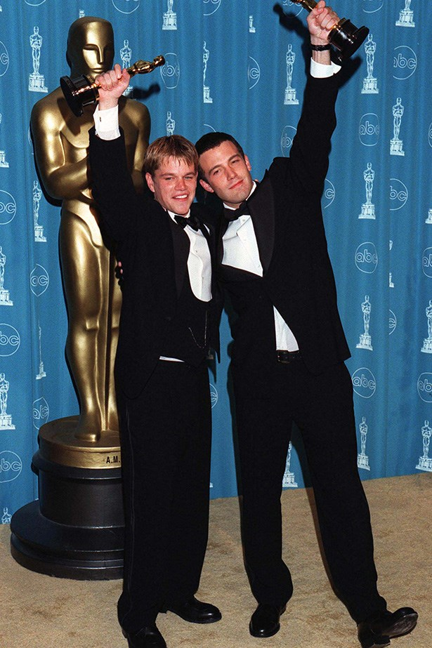 <strong>Ben Affleck & Matt Damon, 1998<br></strong> These lifelong pals took home a joint award for Best Original Screenplay for their film Good Will Hunting. Their speech was adorable, exciting, frantic, funny and authentic, and the fact the award was presented to them by The Odd Couple chums Walter Matthau and Jack Lemmon made it even better. Bromantic.