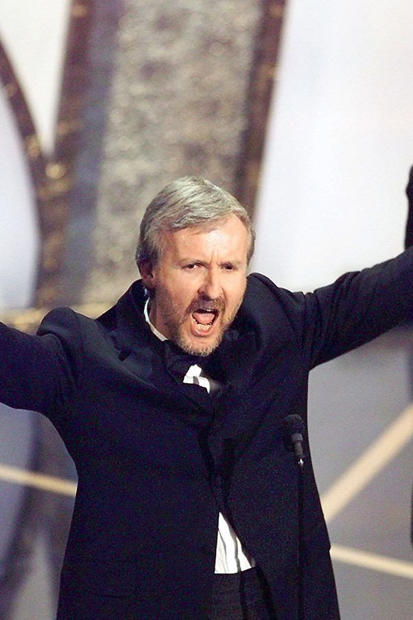 """<strong>James Cameron, 1998</strong><br> When James Cameron took out the Best Director for Titanic, his speech was relatively to the book. That is, until he busted out the ultimate dad joke, yelling """"I'm the king of the world!"""" LOL."""