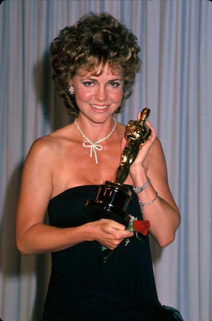 """<strong>Sally Field, 1985</strong><br> OK so it's a little cringe worthy, but we couldn't do a round up of Oscar speeches without mentioning Sally Field' Best Actress acceptance speech for Places In The Heart – it's iconic and a common pop culture reference. """"""""You like me, right now, you like me!"""" Fun Fact: the line was actually from her 1979 film (for which she won her first Oscar), Norma Rae."""