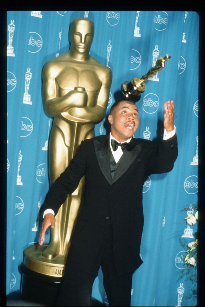 <strong>Cuba Gooding Jr, 1997<br></strong> Never has an actor absolutely embodied his nominated character quite like Cuba Gooding Jr. Picking up Best Supporting Actor for his role in Jerry Maguire, Gooding Jr. was overcome with happiness and gratitude, thanking his wife, crew and cast, but as the orchestral music kicked in, the moment became a climactic scene of energetic, fist pumping joy.