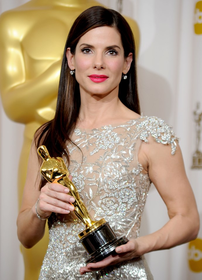 """<strong>Sandra Bullock, 2010<br></strong> Accepting the Best Actress Oscar for The Blind Side, Sandra Bullock delivered a charming and funny speech that opened with, """"did I really earn this? Or did I just wear ya'll down?"""" As she spoke, Bullock became emotional, yet continued to entertain with quips about her childhood and her love of Meryl Streep. Sadly, the husband she poured her gratitude out to, would soon turn out to betray her."""