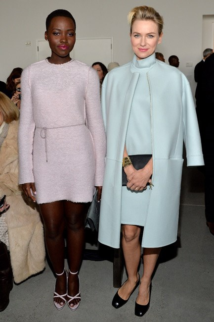 <strong>Who:</strong> Lupita Nyong'o and Naomi Watts<br> <strong>Where:</strong> Calvin Klein at New York Fashion Week<br> <strong>Style lesson:</strong> Two pastels are better than one. Doubling <em>down</em> on sorbet colours was everywhere – match your dress and shoes or your gown with your outwear, for supreme sweetness.