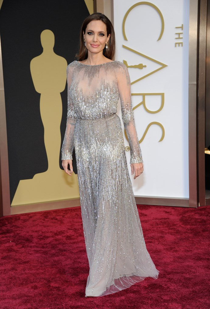 Angelina Jolie on the Oscar's red carpet