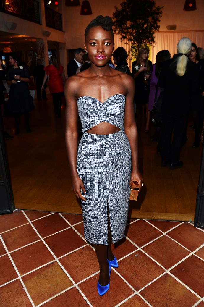 Lupita Nyong'o wearing Michael Kors at the Women in Film Pre-Oscar Cocktail Party