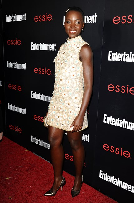 Lupita Nyong'o in Vintage Valentina at the Entertainment Weekly's SAG Awards Nominees Party