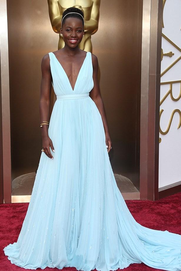 Lupita Nyong'o wearing Prada at the Oscars 2014