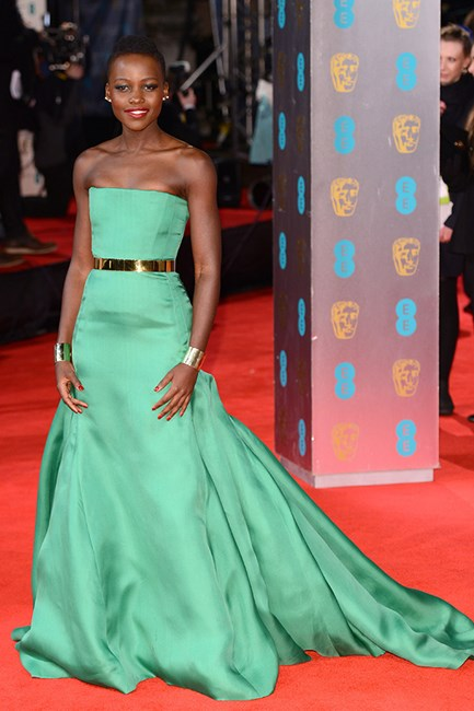Lupita Nyong'o wearing Christian Dior Couture at the 2014 BAFTAs