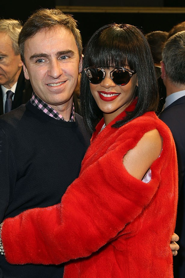 With Christian Dior creative director, Raf Simons.