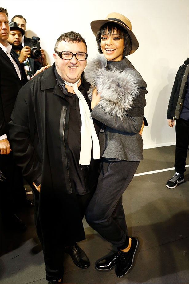 With Lanvin designer, the adorable Alber Elbaz.