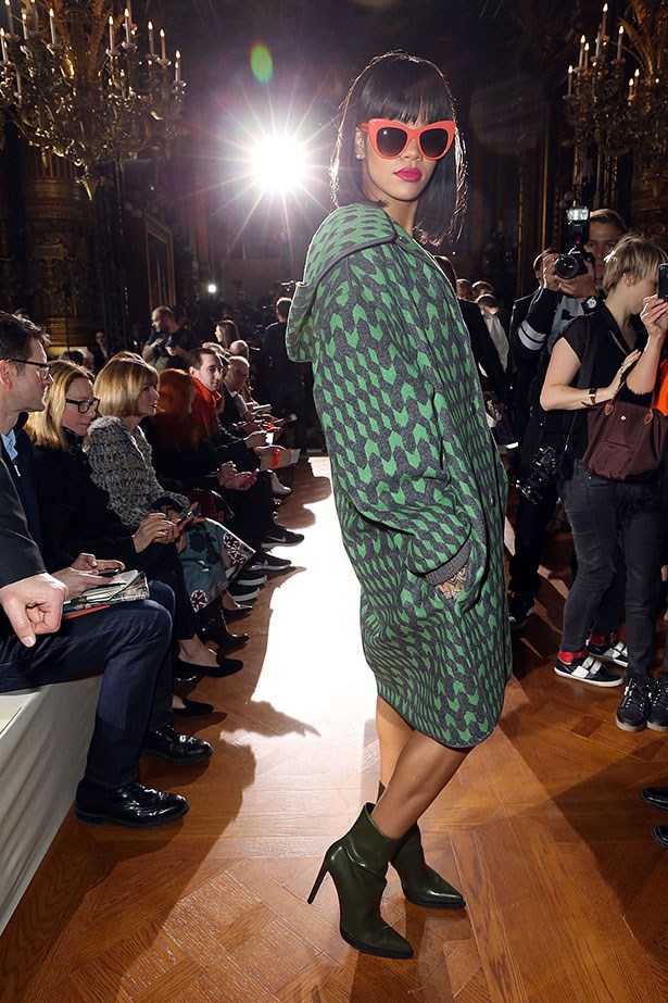 Monday: Rihanna wraps up in Stella McCartney at Stella McCartney.