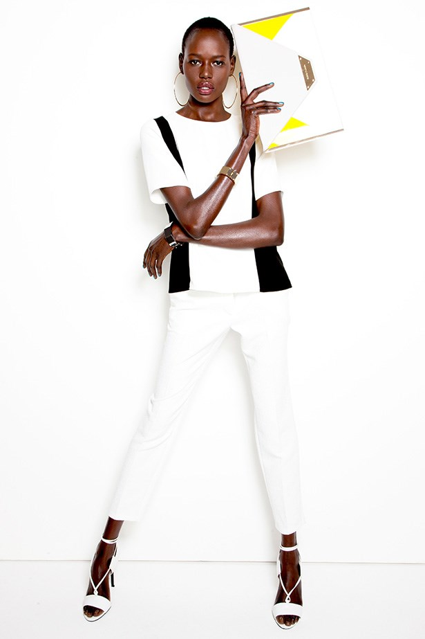 Ajak Deng wearing River Island