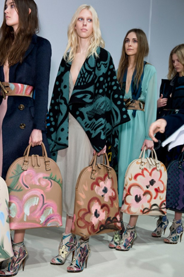 Burberry's artful totes.