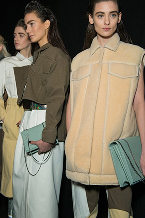 Cool mint accents at 3.1 Phillip Lim.