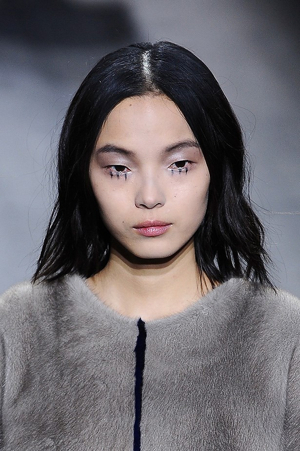 <strong>Culture kid<BR></strong> At Vionnet, Pecheux drew three spokes under the eyes of each of the models. The dashes were quirky and off-centre, like their Tim Burton-inspiration.