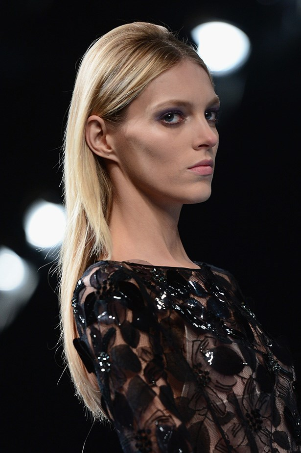 <strong>Retro 'do<BR></strong> Nina Ricci's AW14-15 runway spoke of the '60s, when backcombing and healthy, shiny locks were the order of the day. Redken's creative consultant Guido Palau created a little height at the crown of the head, prepping with Pillow Proof Blowdry ($30.95, redken.com.au, available in April).