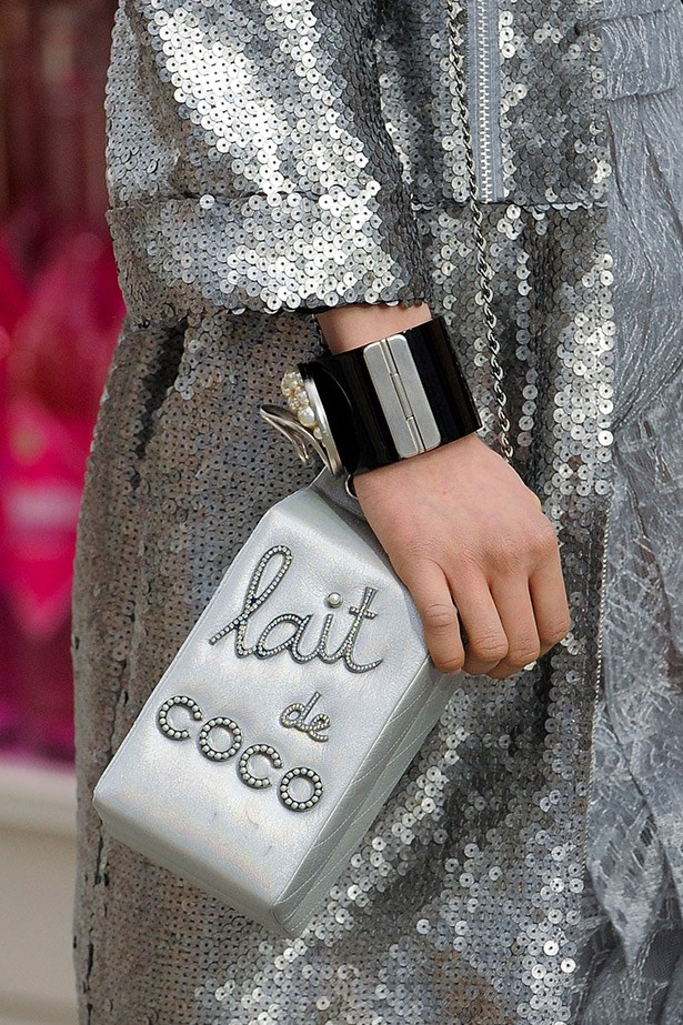 "One of the most instagrammed bags of the season: ""Lait de Coco"" by Chanel."