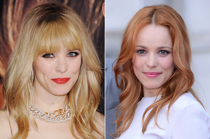 Rachael McAdams has dappled with being blonde, brunette, and red-headed throughout her career.