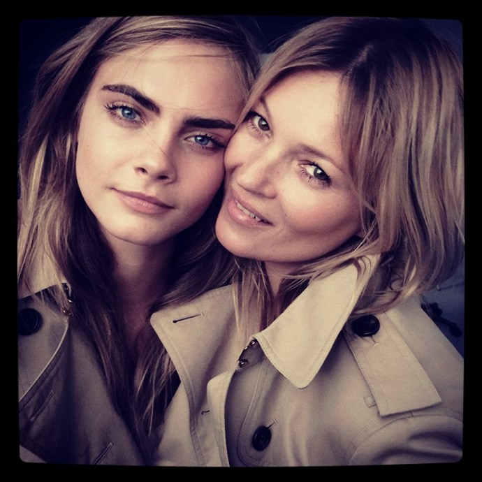Kate Moss and Cara Delevingne for Burberry