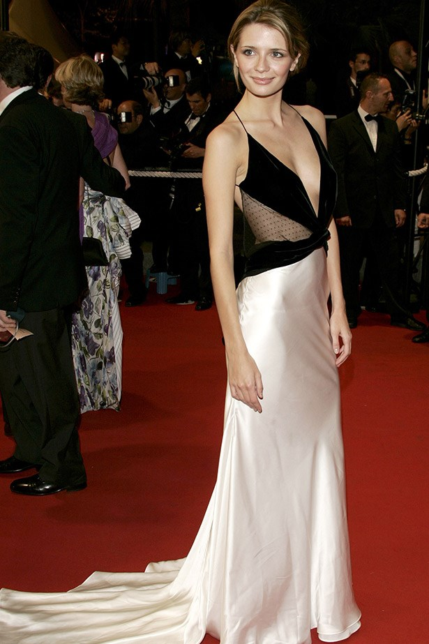 Mischa Barton in a Roberto Cavalli gown at the Cannes Film Festival premiere of Election in 2005.