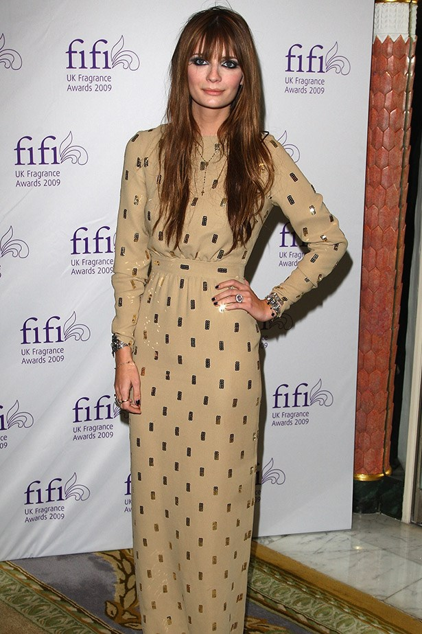 Mischa Barton rocking a heavy fringe and an Alexander Terekhov gown in 2009.