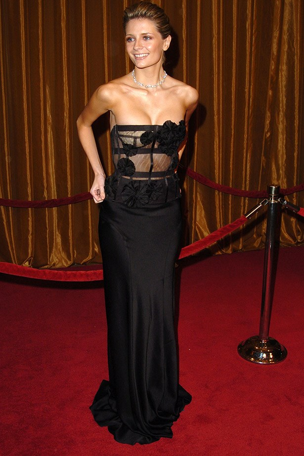 Mischa Barton at the 2005 Director's Guild Awards wearing a strapless Monique Lhuillier dress.