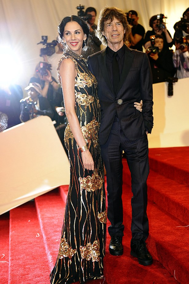 Scott looked incredible in a black and gold sheath-dress at the 2011 Met Ball to honour fellow designer Alexander McQueen, with Jagger and mass of celebrities.