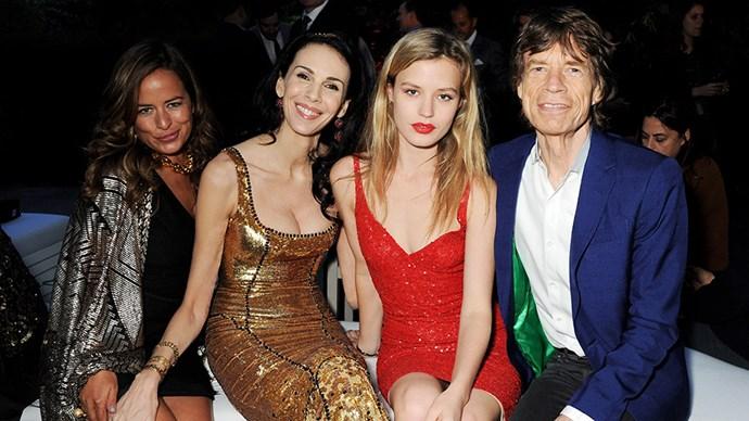 L'Wren Scott, Georgia May Jagger and Mick Jagger