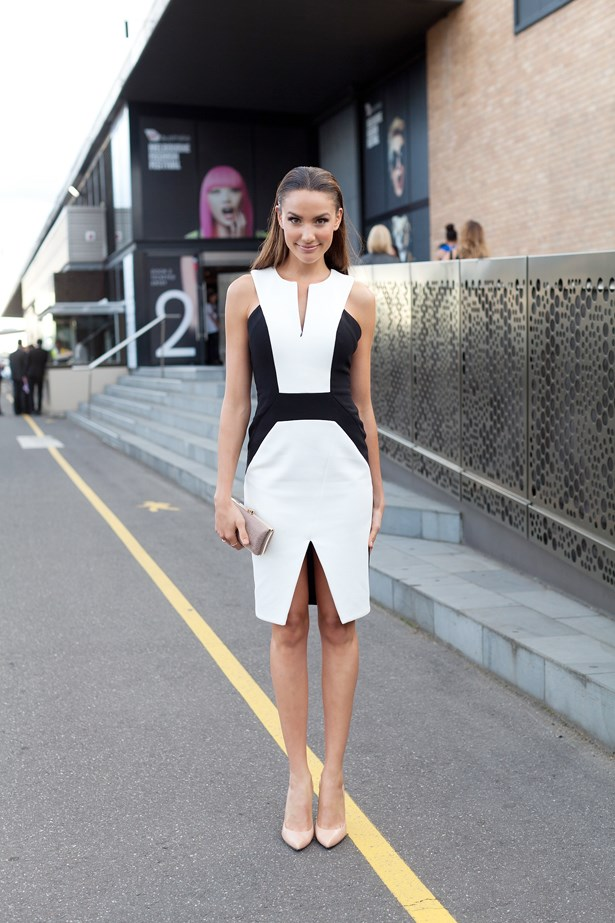 Rachael Finch wears a Nicola Finetti dress at VAMFF <br><br>Photography: Liz McLeish