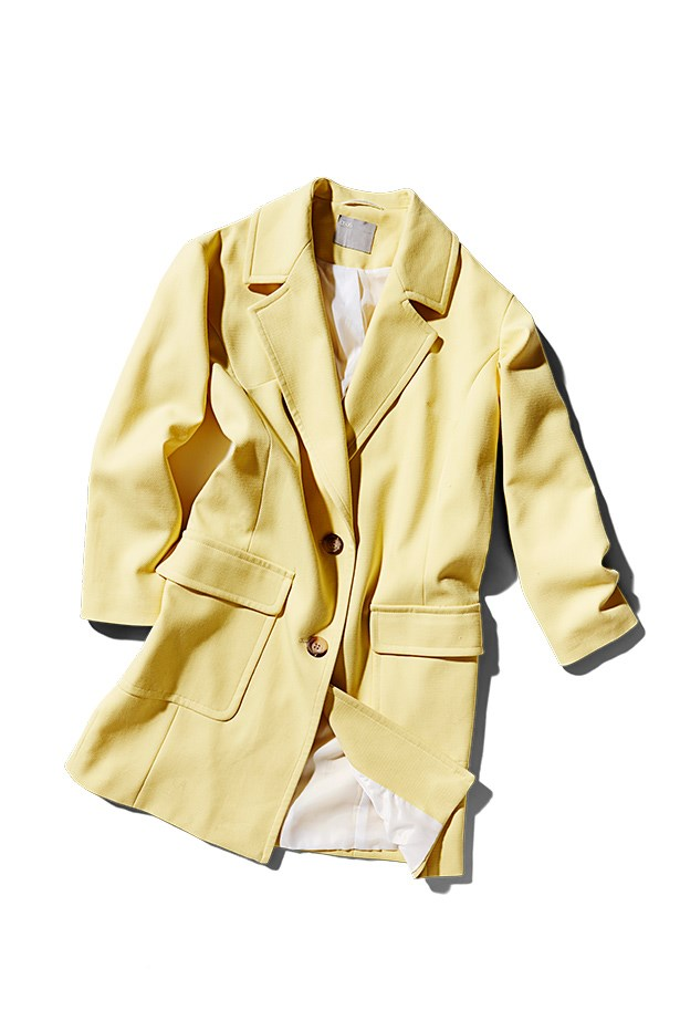 "<p><strong>The lightweight coat</strong></p> <p>Don't overlook the sartorial clout of a smart cover up. Slightly oversized and relaxed at the shoulders, this somewhat preppy piece graduates from staple to statement when done in pastel.</p> <p>Coat, $145, Asos, <a href=""http://www.asos.com"">asos.com</a></p>"